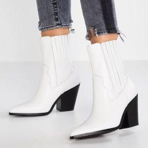 ALDO Leather Drerissa White Cowgirl Boot Boho